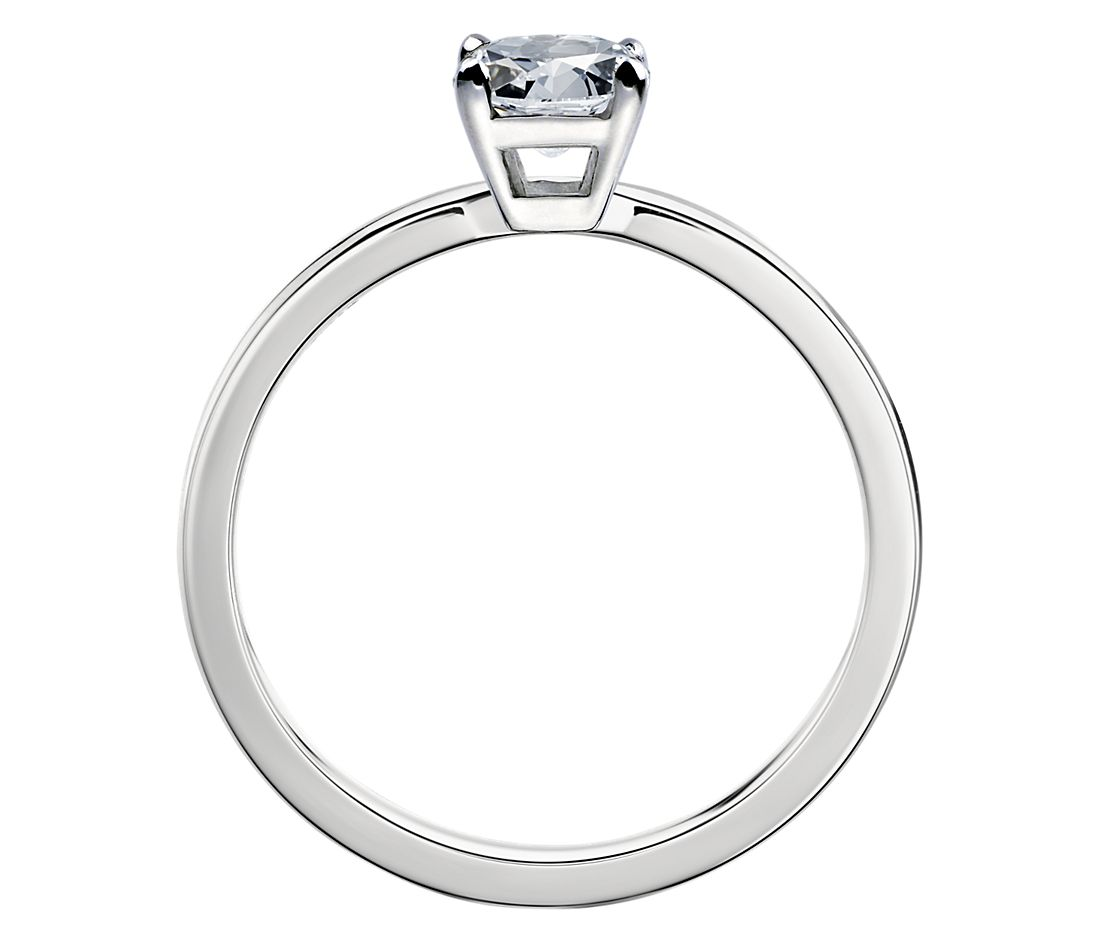 Low Dome Comfort Fit Solitaire Engagement Ring In Platinum