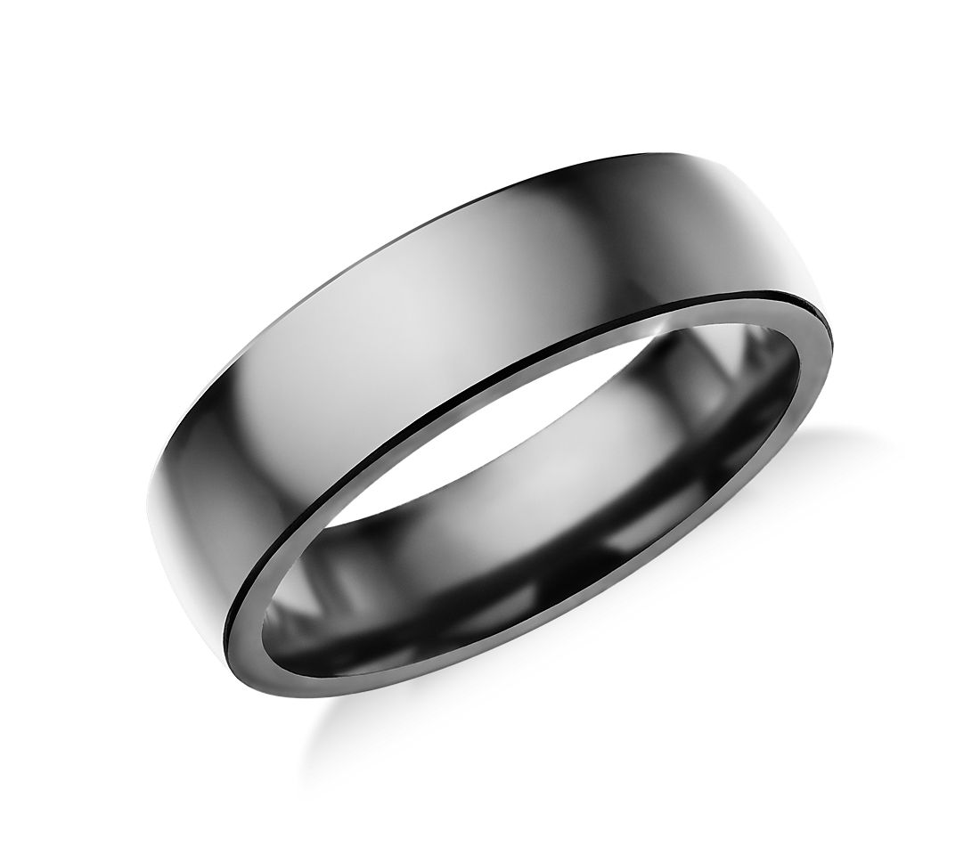 Low Dome Comfort Fit Wedding Ring in Tantalum (6.5mm)