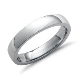 Low Dome Comfort Fit Wedding Ring in Platinum (4mm)