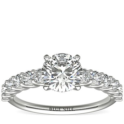 Luna Diamond Engagement Ring in Platinum (1/2 ct. tw.)