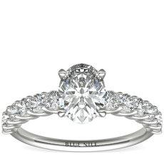 Bague de fiançailles diamant en platine (0,47carat, poids total)