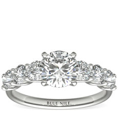 Luna Diamond Engagement Ring in Platinum (7/8 ct. tw.)