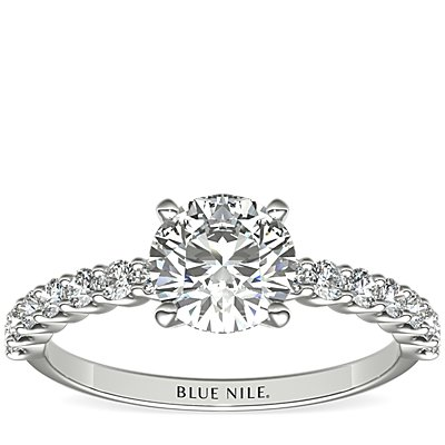 Petite Luna Diamond Engagement Ring in 14k White Gold (0.31 ct. tw.)