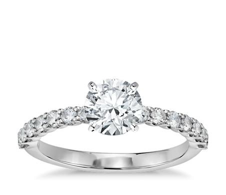 Petite Luna Diamond Engagement Ring in 14k White Gold (1/3 ct. tw.)