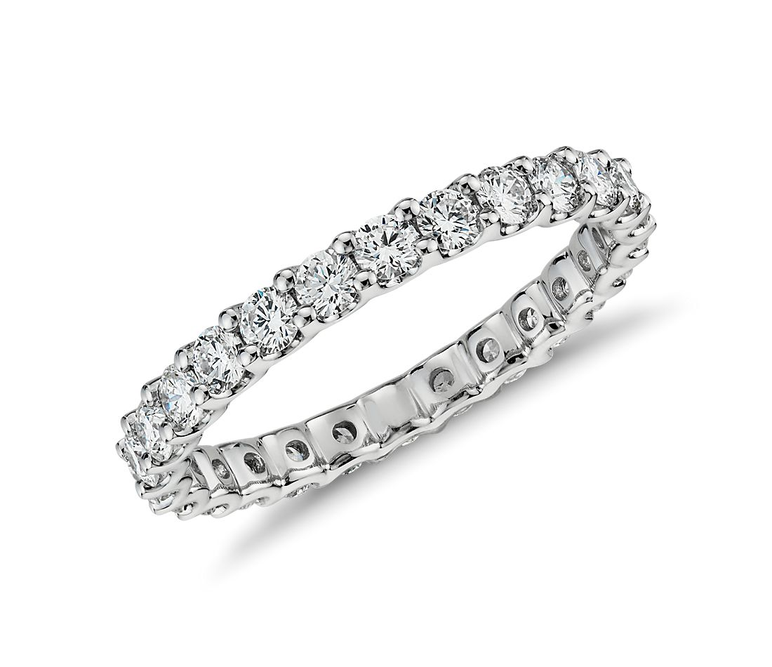 Luna Eternity Diamond Ring in 14k White Gold (0.96 ct. tw.)