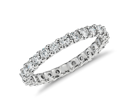 ring band eternity k ct carat bands diamond solitaire under engagement