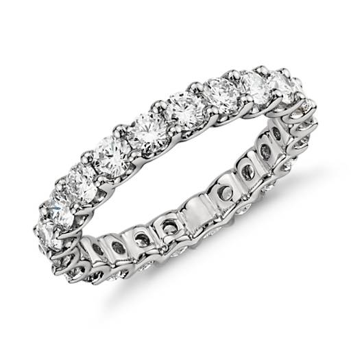 Luna Diamond Eternity Ring In Platinum 2 Ct Tw Blue Nile