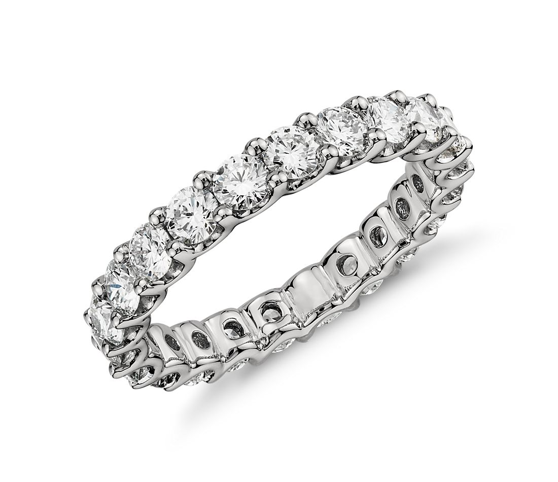 Luna Diamond Eternity Ring In Platinum 2 Ct Tw