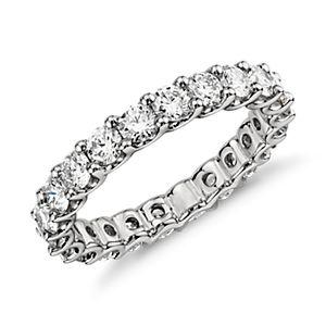 Anillo de Eternidad Luna con diamantes en platino (2 qt. total)