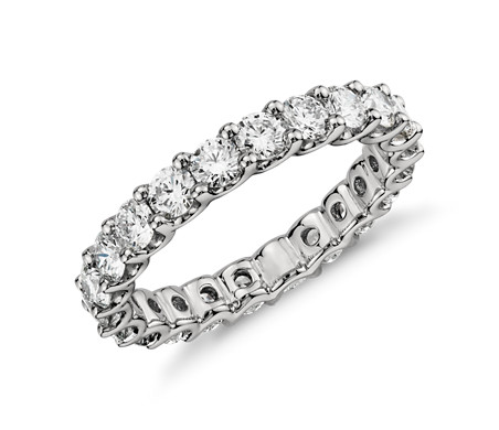 solitaire wedding mm eternity with bands pin band ct carat diamond love paired prongs anniversary
