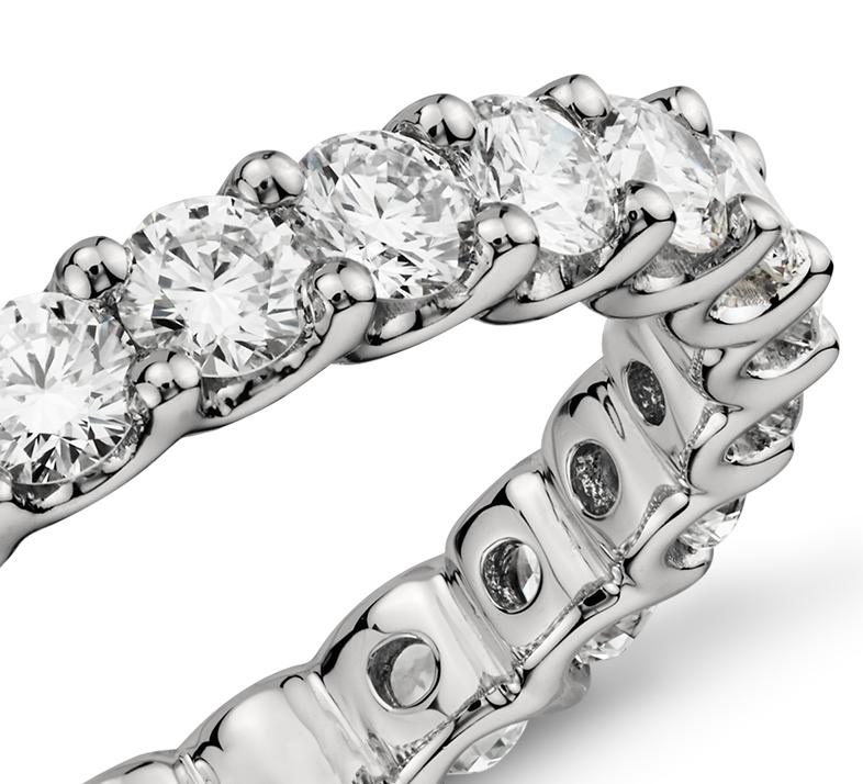 Bague d'éternité diamant Gala en platine (2carats, poids total)