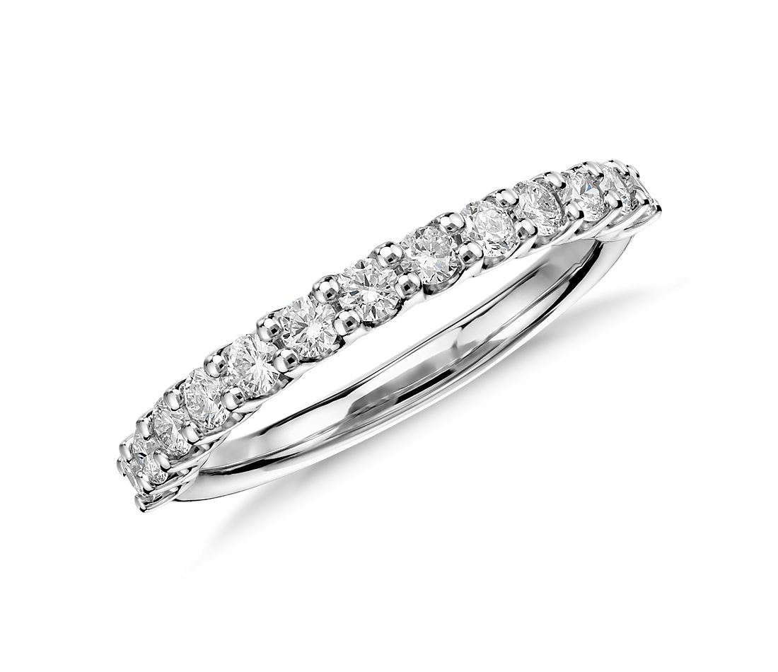 luna diamond wedding ring in platinum 12 ct tw - Diamond Wedding Rings For Her