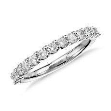 luna diamond wedding ring in platinum 12 ct tw