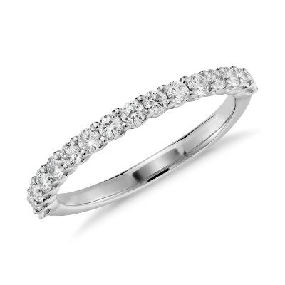 Luna Diamond Ring in 14k White Gold 13 ct tw Blue Nile