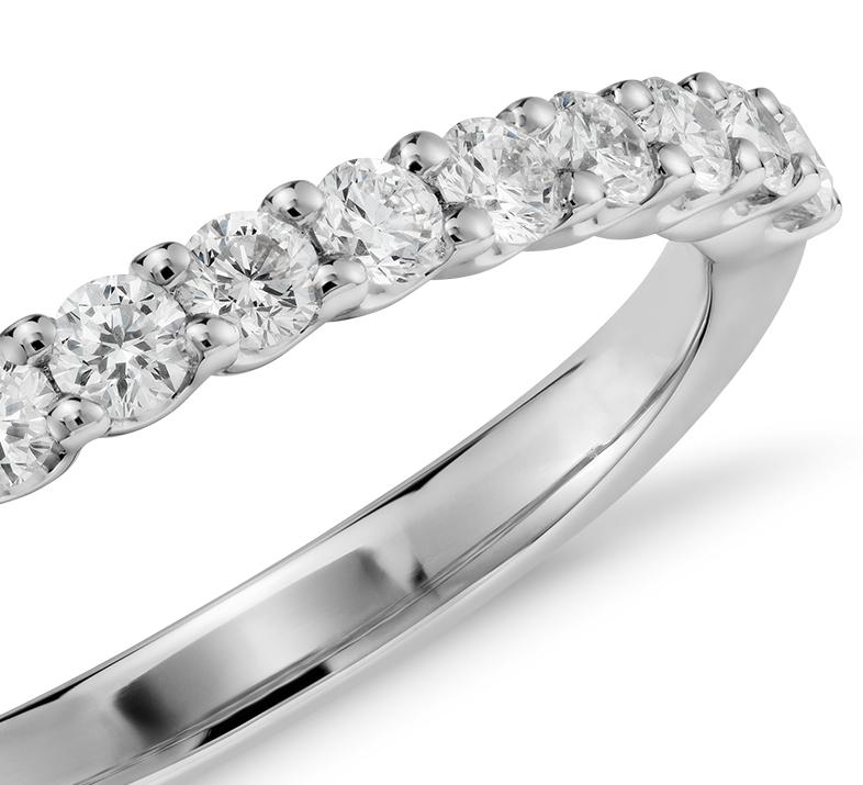 Bague diamant Luna en or blanc 14carats (1/3carat, poids total)