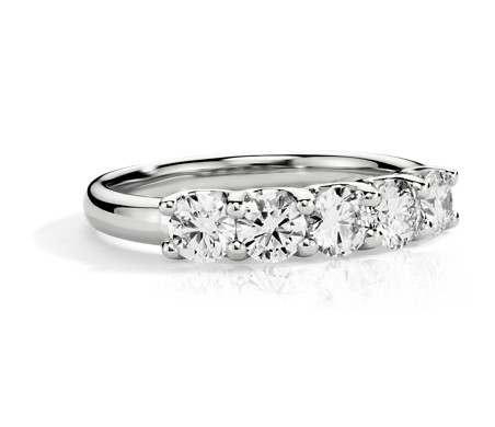 Luna Five Stone Diamond Ring in 14k White Gold (1 ct. tw.)