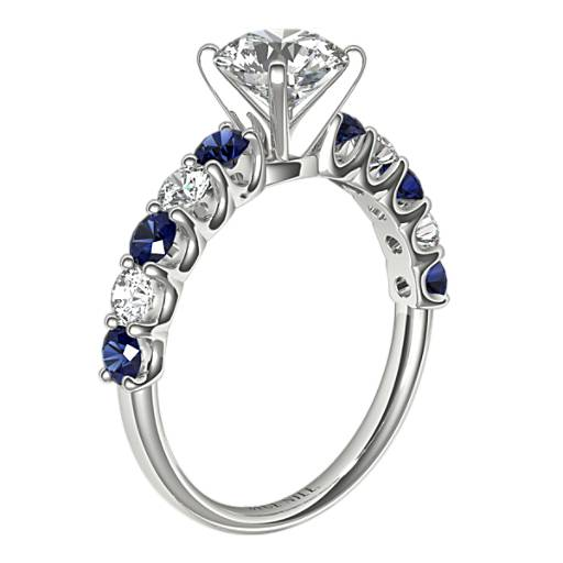 Luna Sapphire and Diamond Engagement Ring