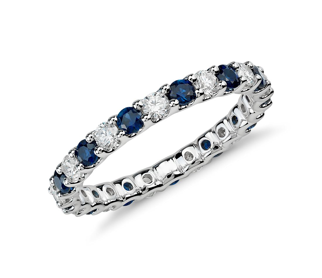 2db458c81d32c Luna Sapphire and Diamond Eternity Ring in 14k White Gold (5/8 ct. tw.)