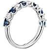 鉑金 密釘藍寶石與鑽石戒指<br>( 2.8毫米)