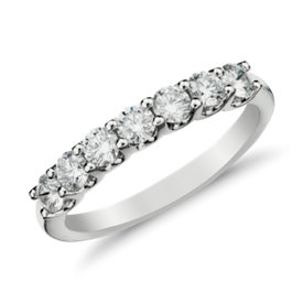 Luna Seven-Stone Diamond Ring in 14k White Gold
