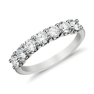 Luna Seven Stone Diamond Ring in 14k White Gold (1 ct. tw.)