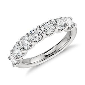 Bague diamant à sept pierres Luna en platine (1 1/2carats, poids total)