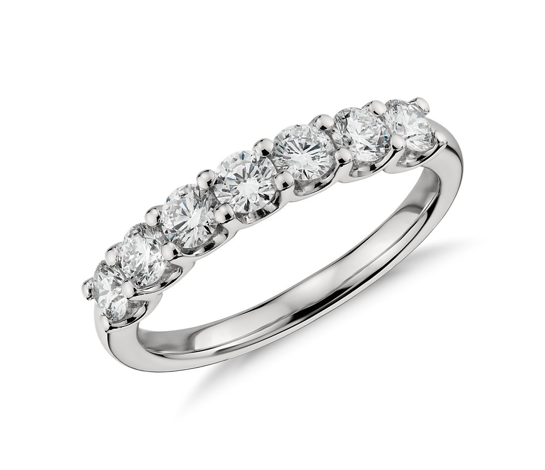 luna seven stone diamond ring in platinum 1 ct tw - Ring For Wedding