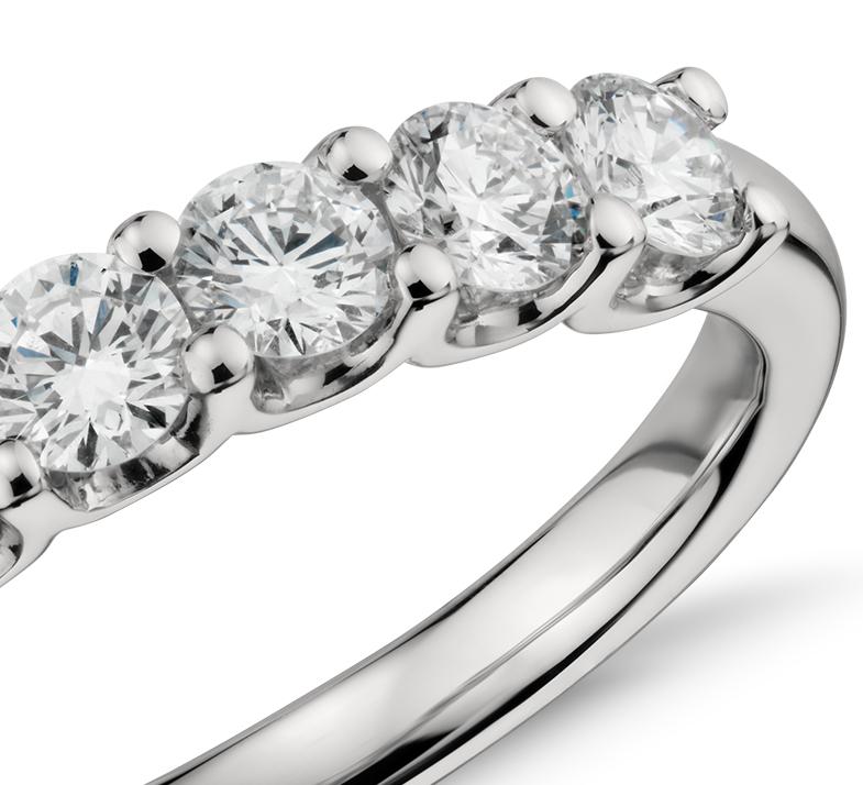 Luna Seven Stone Diamond Ring in Platinum (1 ct. tw.)