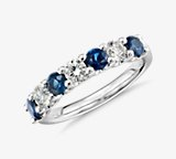 Luna Seven Stone Sapphire and Diamond Ring