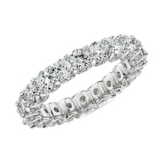 Luxe Diamond Eternity Ring with Pavé Profile in 14k White Gold (3 3/4 ct. tw.)