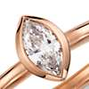 Bezel Marquise Diamond Ring in 14k Rose Gold (1/5 ct. tw.)