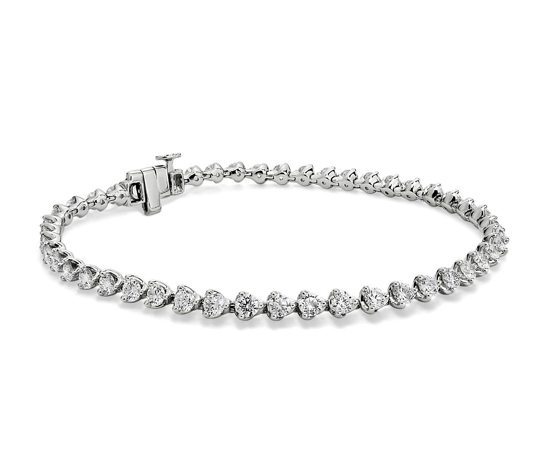 Martini Setting Diamond Tennis Bracelet in 14k White Gold (4 ct. tw.)