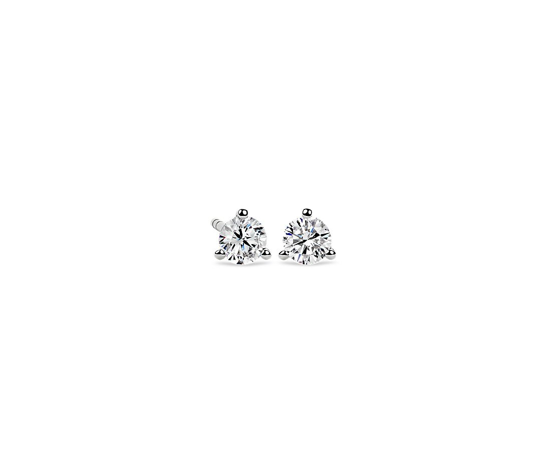 Martini Stud Earring in 14K White Gold (1/2 ct. tw.)