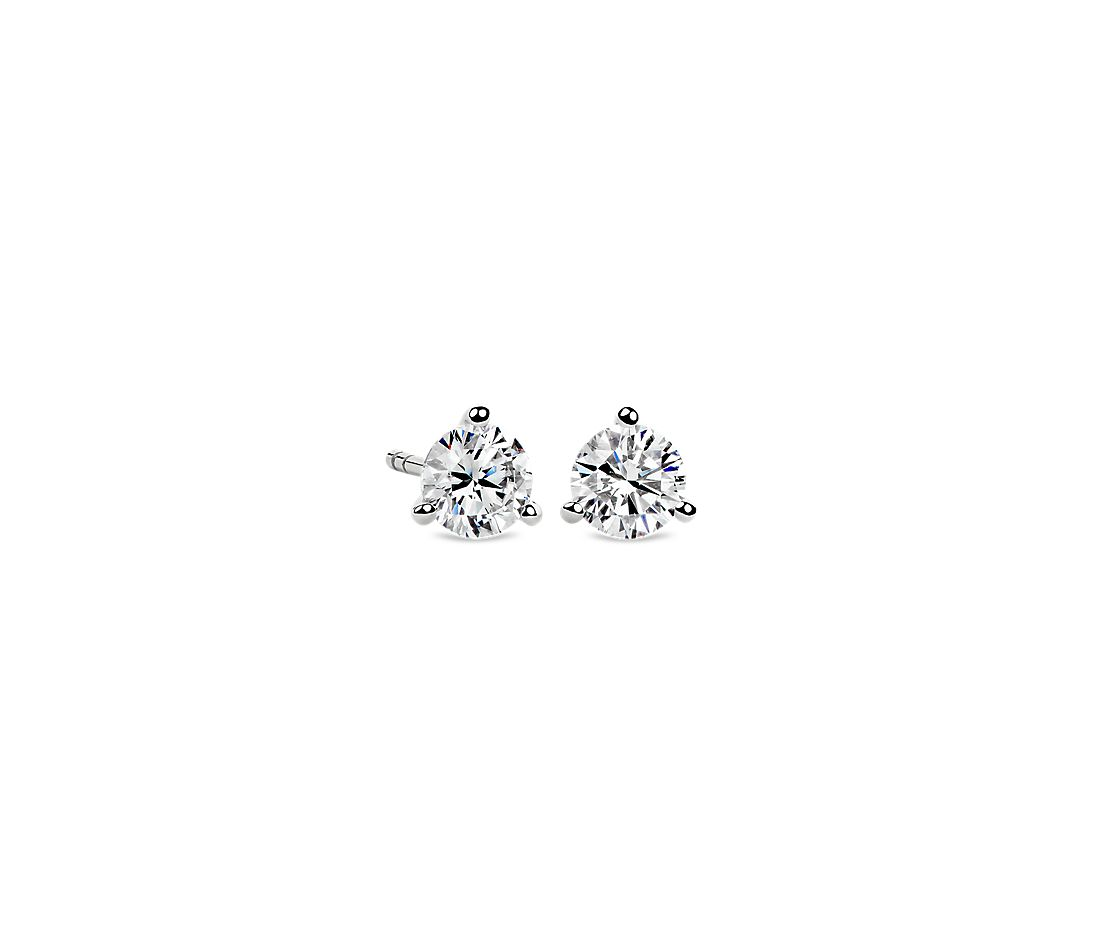Martini Stud Earring in 14K White Gold (1 ct. tw.)