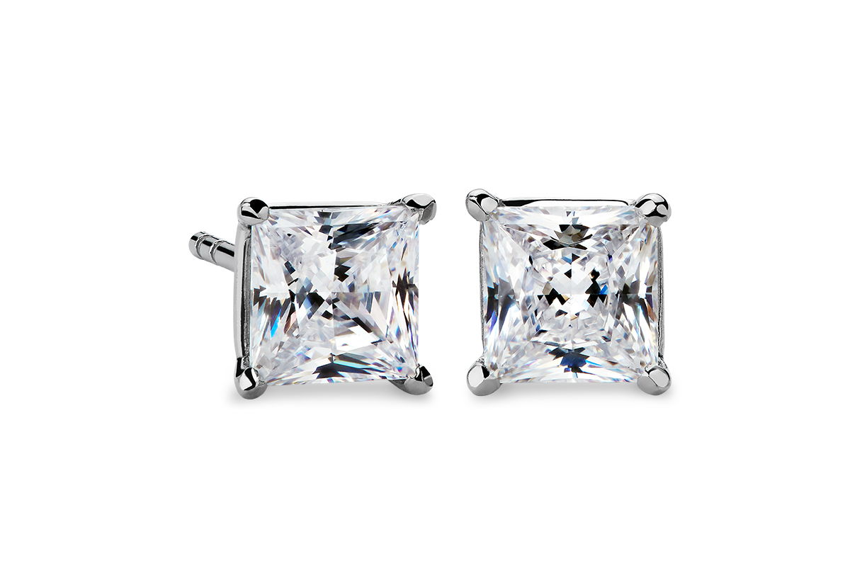 Martini Four-Prong Earrings in Platinum