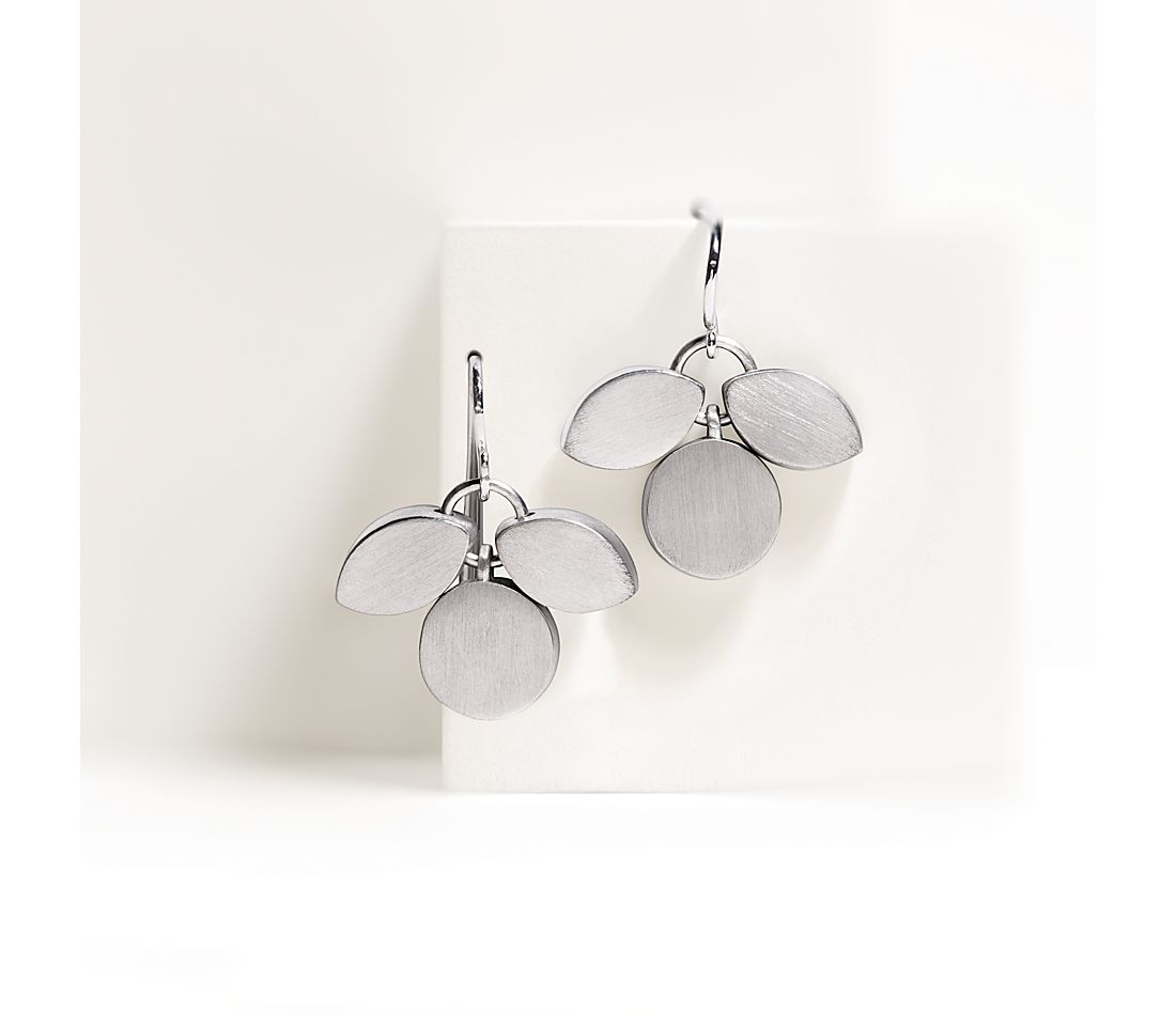 Bree Richey Petal Drop Earrings in Sterling Silver