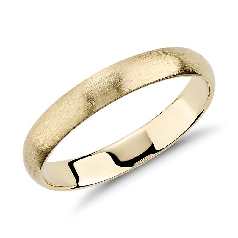Matte Classic Wedding Ring in 14k Yellow Gold (3mm)