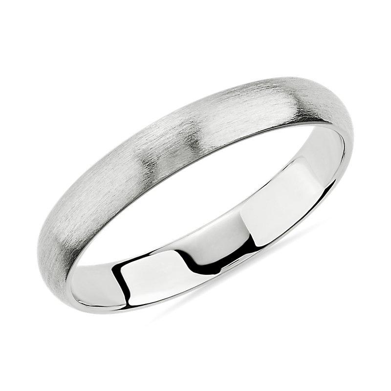Matte Classic Wedding Ring in Platinum (3mm)