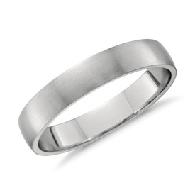 Matte Classic Wedding Ring in Platinum (4mm)