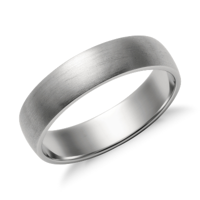 Matte Classic Wedding Ring in Platinum 5mm Blue Nile