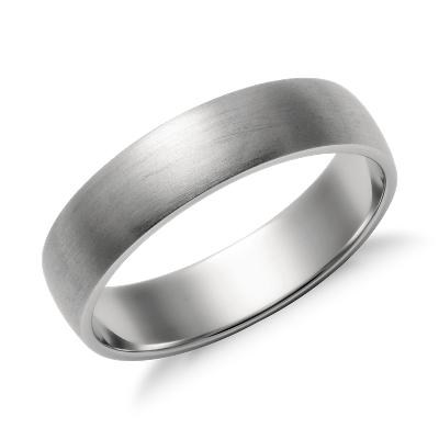 Matte Classic Wedding Ring in Platinum 4mm Blue Nile
