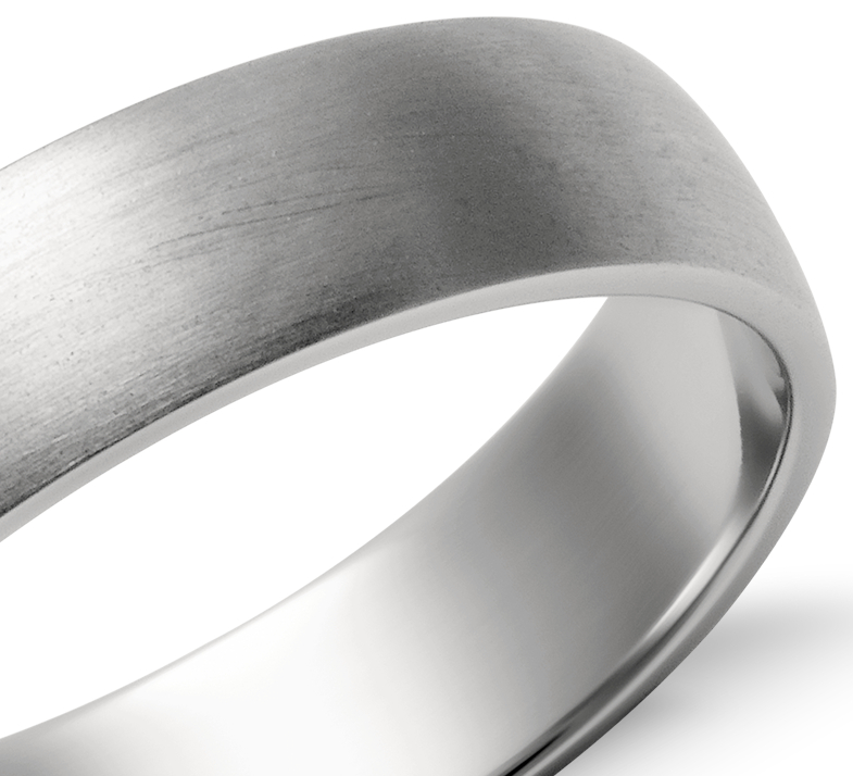 Alianza clásica mate en platino (5mm)