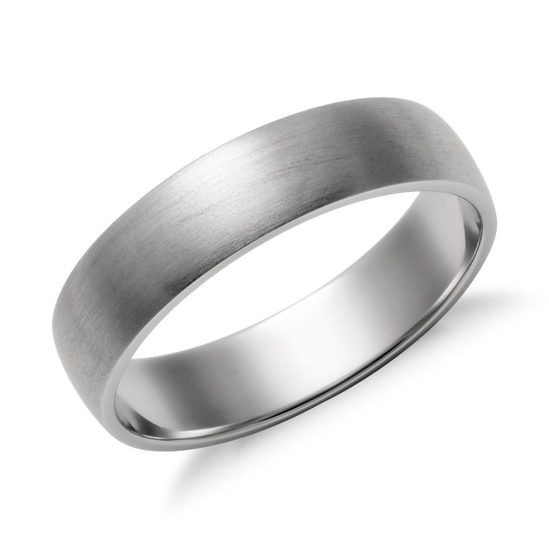 Matte Classic Wedding Ring in Platinum (5mm)