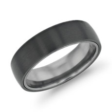 Matte Wedding Ring In Black Anium And Tantalum 6 5mm