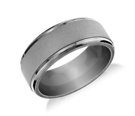 Matte Finish Wedding Ring in Tantalum (9mm)