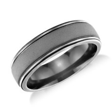 Matte Finish Wedding Ring in Tantalum (7mm)
