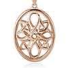 Oval Medallion Necklace in 14k Rose Gold
