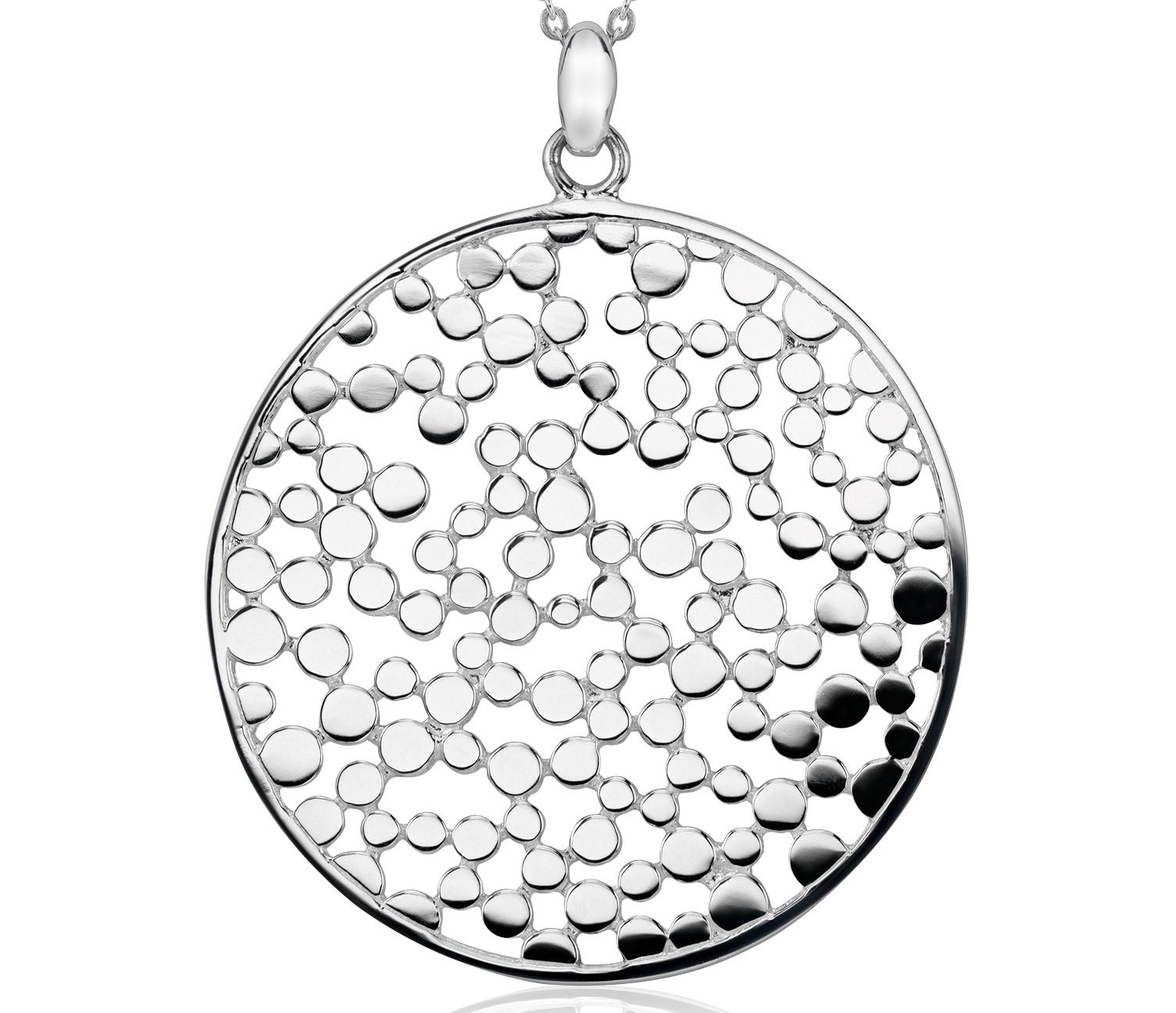 Colgante tipo medallón en plata de ley