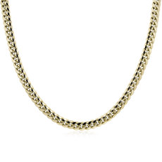 NEW Men's Miami Cuban Link Chain in 14k Yellow Gold