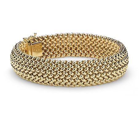 Bracelet maille en or jaune 14carats